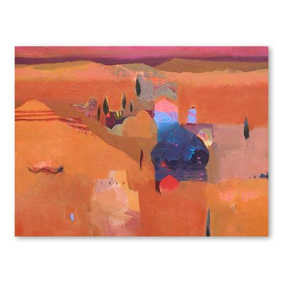 Americanflat Ziz Valley Cypresses Art Print Wrapped on Canvas