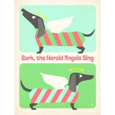 Americanflat Bark the Herald Angels Graphic Art Wrapped on Canvas
