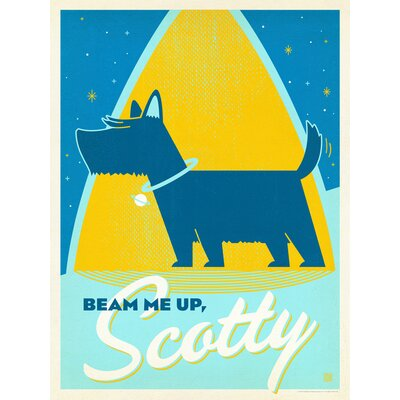 Americanflat Beam Me Up Scotty Vintage Advertisement Wrapped on Canvas