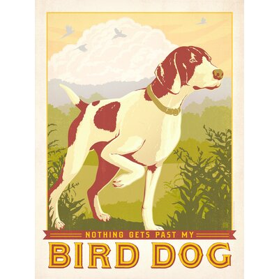 Americanflat Bird Dog Vintage Advertisement Wrapped on Canvas