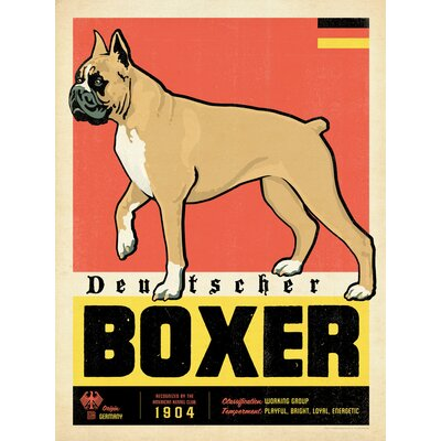 Americanflat Boxer Vintage Advertisement Wrapped on Canvas