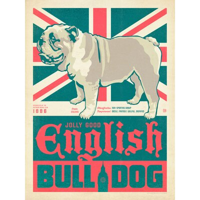 Americanflat Bulldog 2 Vintage Advertisement Wrapped on Canvas