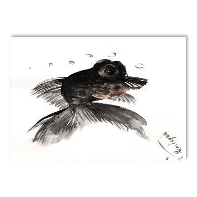 Americanflat Black Moor, Goldfish by Suren Nersisyan Art Print