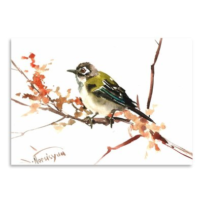 Americanflat Black Capped Vireo by Suren Nersisyan Art Print