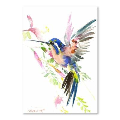 Americanflat Hummingbird Flying by Suren Nersisyan Art Print