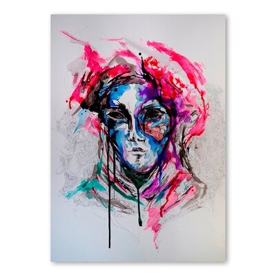 Americanflat Masq Art Print Wrapped on Canvas