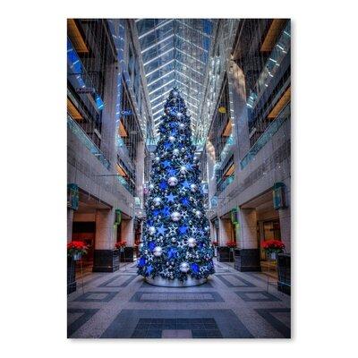 Americanflat Blue Christmas Tree Photographic Print