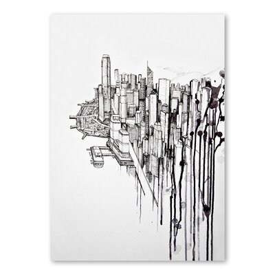 Americanflat Reclaimed Graphic Art Wrapped on Canvas