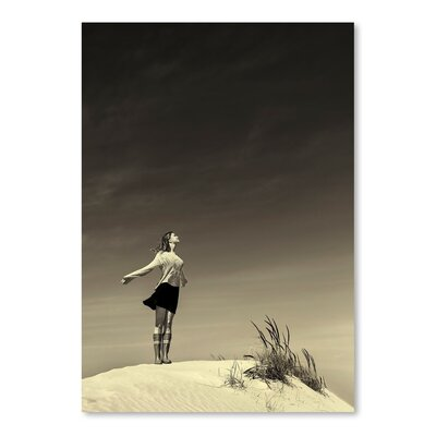 Americanflat Girl on Sand Photographic Print