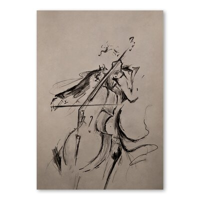 Americanflat The Cellist Art Print Wrapped on Canvas