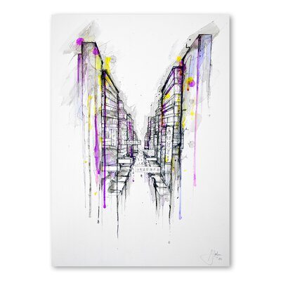 Americanflat This City Sleeps Art Print Wrapped on Canvas