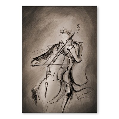Americanflat The Cellist Dark Art Print Wrapped on Canvas