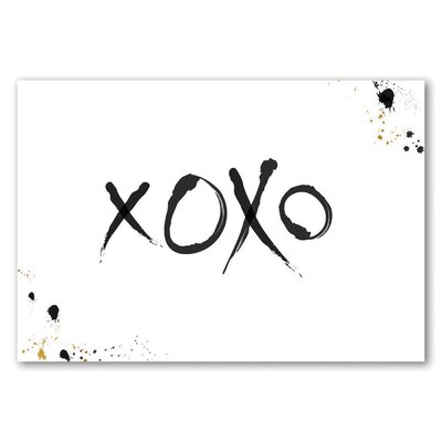 Americanflat XOXO Typography Wrapped on Canvas