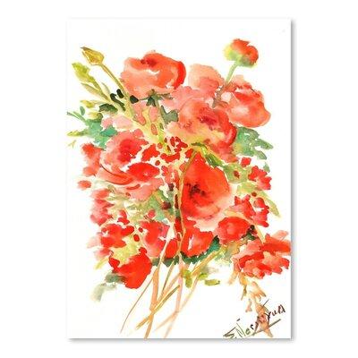 Americanflat Buttercups Ranunculus by Suren Nersisyan Art Print