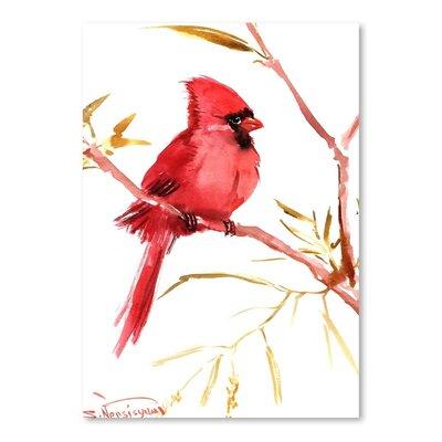 Americanflat Cardinal Bird by Suren Nersisyan Art Print