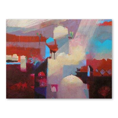 Americanflat Atlas Light Rays Art Print Wrapped on Canvas