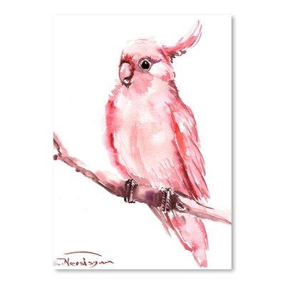 Americanflat Cockatoo by Suren Nersisyan Art Print in Pink