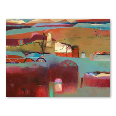 Americanflat Berber Village Art Print Wrapped on Canvas