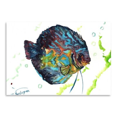 Americanflat Discus Fish 2 by Suren Nersisyan Art Print