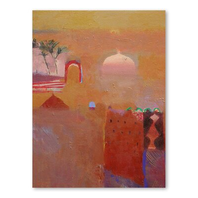 Americanflat Date Palms in the Draa Valley Art Print Wrapped on Canvas