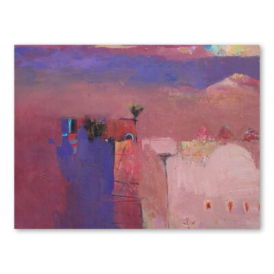 Americanflat Draa Valley Mist Art Print Wrapped on Canvas