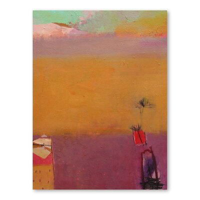 Americanflat Desert Glow Art Print Wrapped on Canvas