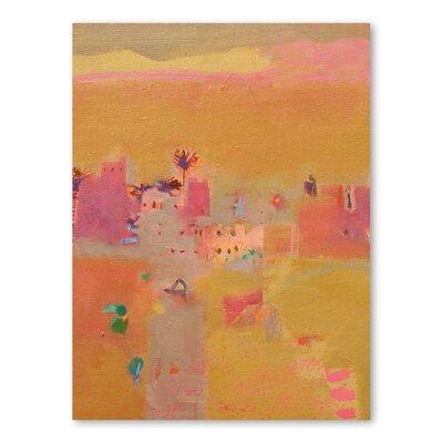 Americanflat Desert Kasbahs Art Print Wrapped on Canvas