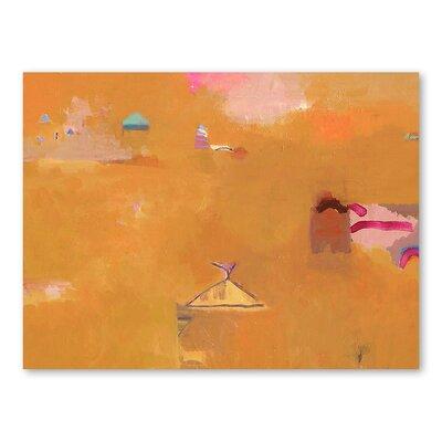Americanflat Desert Art Print Wrapped on Canvas