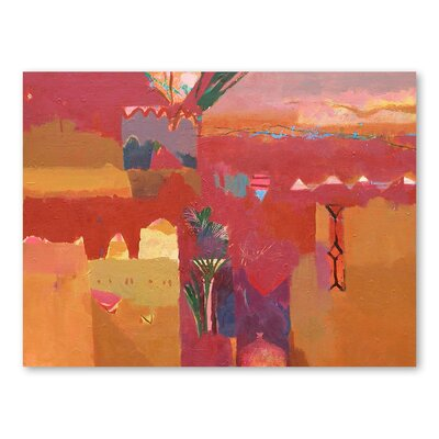Americanflat Kasbah Towers 2 Art Print Wrapped on Canvas