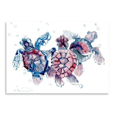 Americanflat Baby Sea Turtles by Suren Nersisyan Art Print
