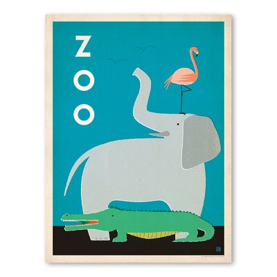 Americanflat Zoo Graphic Art in Blue
