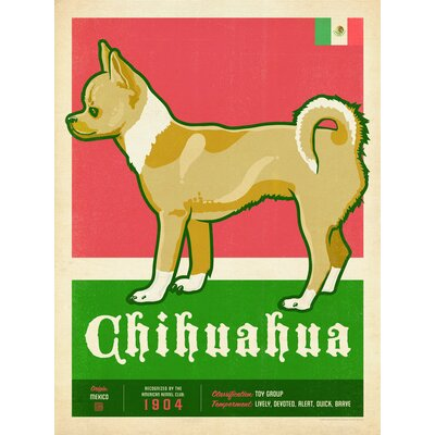 Americanflat Chi Hua Hua Vintage Advertisement Wrapped on Canvas