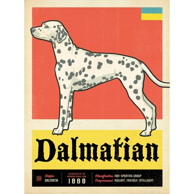Americanflat Dalmatian Vintage Advertisement Wrapped on Canvas