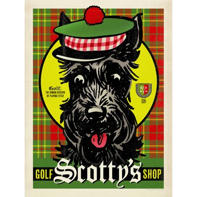 Americanflat Scottys Golf Vintage Advertisement Wrapped on Canvas