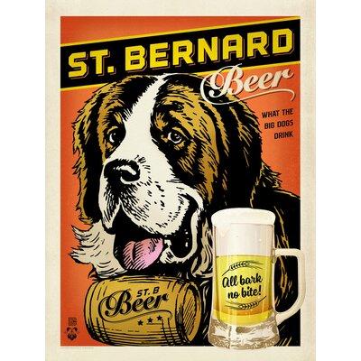 Americanflat St.Bernard Beer Vintage Advertisement Wrapped on Canvas
