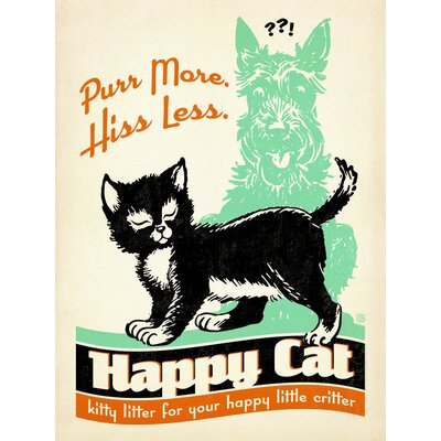 Americanflat Purr More Vintage Advertisement Wrapped on Canvas