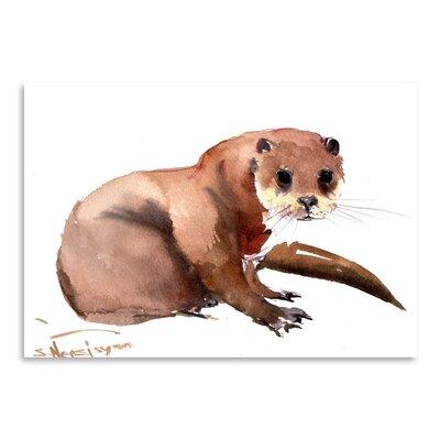 Americanflat Otter by Suren Nersisyan Art Print