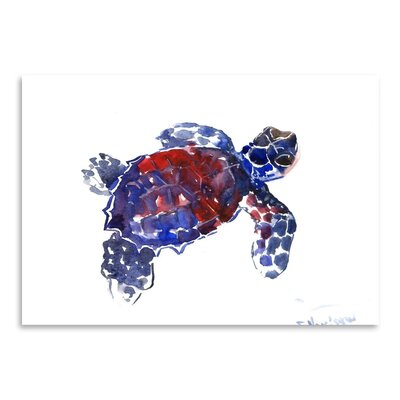 Americanflat Sea Turtle Babe 2 by Suren Nersisyan Art Print