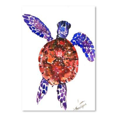 Americanflat Sea Turtle by Suren Nersisyan Art Print