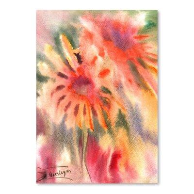 Americanflat Abstract Blanket Flowers Art Print
