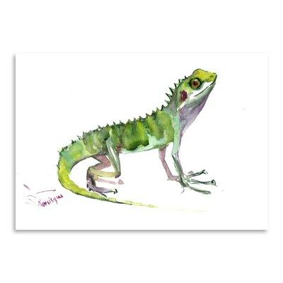 Americanflat Agama Lizard by Suren Nersisyan Art Print