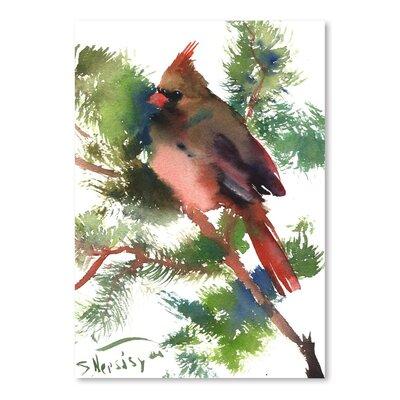 Americanflat Female Cardinal by Suren Nersisyan Bird Art Print