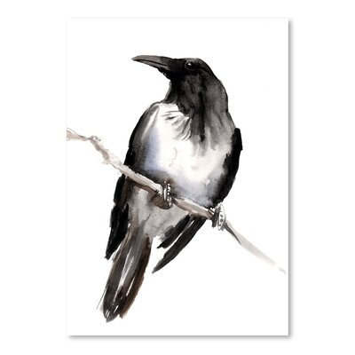 Americanflat Hodded Crow 3 by Suren Nersisyan Art Print