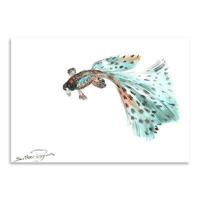 Americanflat Guppy Fish 2 by Suren Nersisyan Art Print