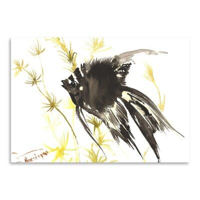 Americanflat Black Angelfish by Suren Nersisyan Art Print
