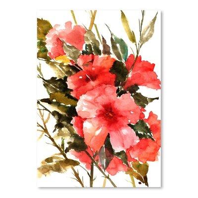 Americanflat Hybiscus by Suren Nersisyan Art Print