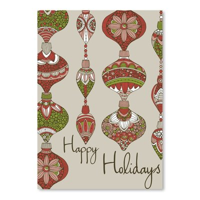 Americanflat Happy Holidays Graphic Art Wrapped on Canvas
