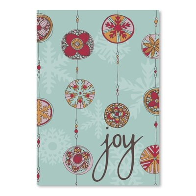 Americanflat Joy Graphic Art Wrapped on Canvas