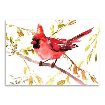 Americanflat Northern Cardinal by Suren Nersisyan Art Print