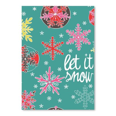 Americanflat Letitsnow Graphic Art Wrapped on Canvas
